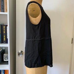 41 Hawthorn Tops - Asymmetrical woven dressy tank with beading